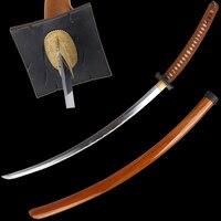 106cm Free Shipping Samurai Katana Handmade Folded Steel Samurai Sword Tachi Sharp Edge Big Props Light Wooden Sheath Home Craft
