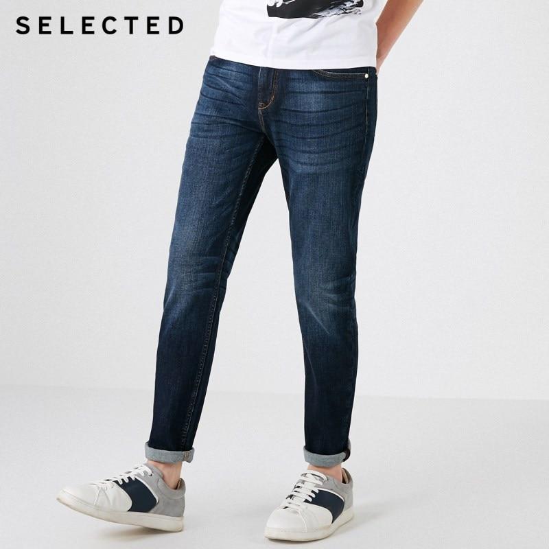SELECTED Men's Autumn & Winter Demin Pants Lycra Stretch Fading Slim Fit Jeans Clothes D | 418332531