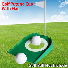 Golf-Putting-Cup Putter Training Green Ball Practice-Aids Indoor with Hole-Flag Rubber