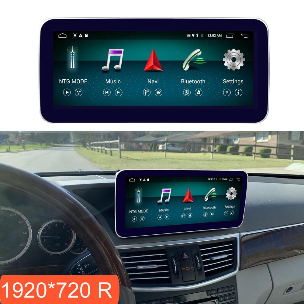 10.25 polegada 4 + 64g android display para mercedes benz classe e w212 2009-2016 tela de rádio do carro gps navegação bluetooth tela de toque