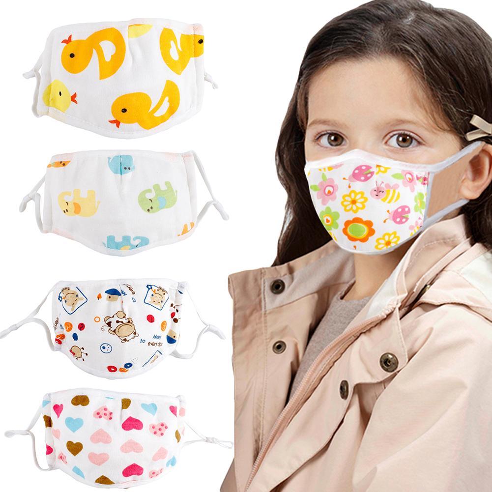 Kids Children Cotton Cartoon Adjustable 5 Layers Anti Haze Dustproof Mouth Mask Face Mask