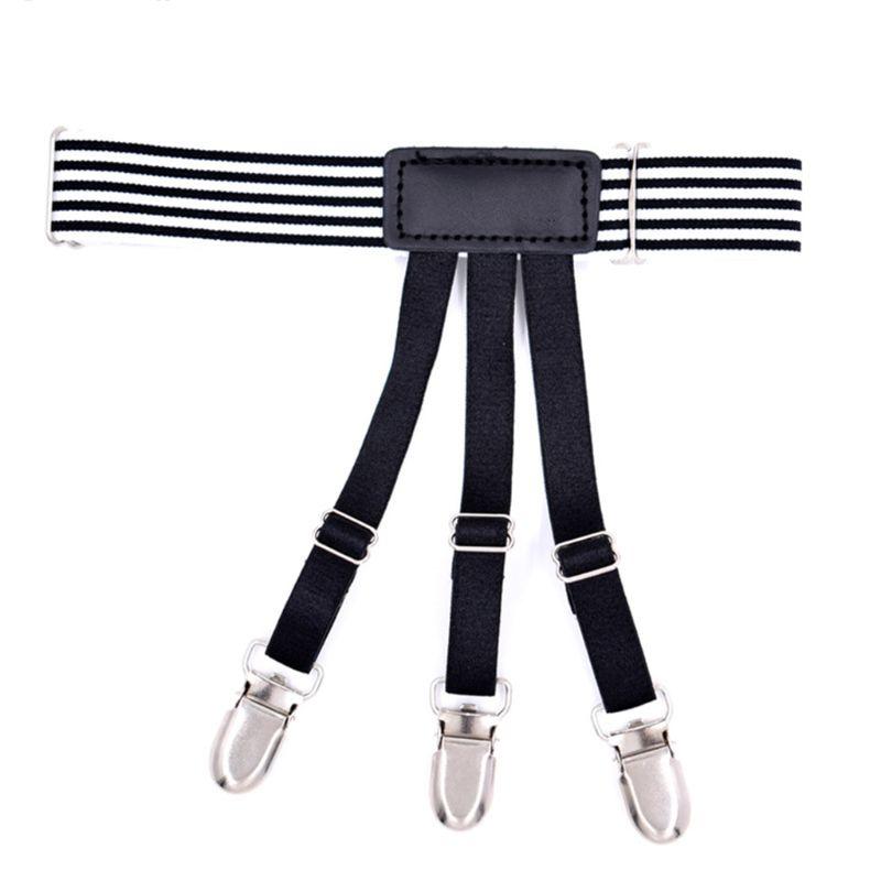 Men Anti-wrinkle Keep Shirts Remains Belt Clips Hidden Leg Thigh Garters Suspend 40JF