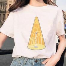 Pretenda ser un micrófono Vintage bajo el foco, Camiseta de algodón para mujer, camiseta de talla grande para hombre, camiseta de verano Harajuku