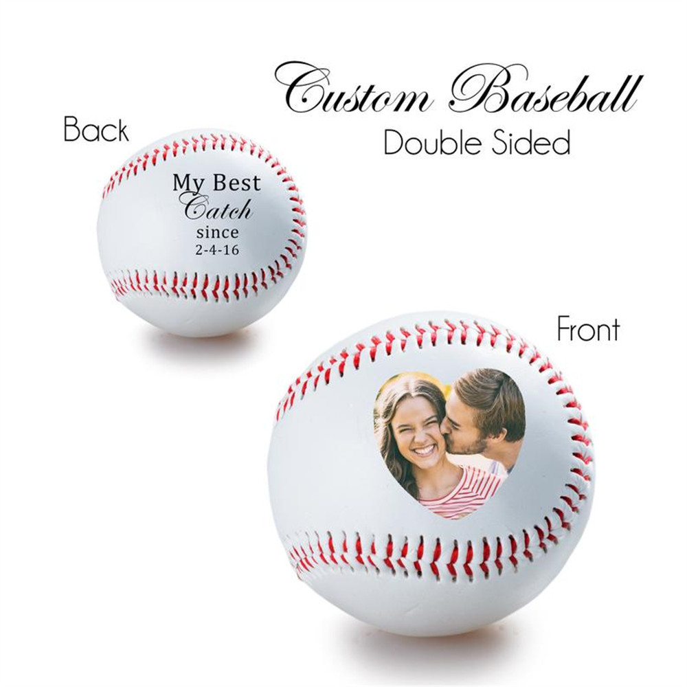 Personalized wedding anniversary Baseball, FATHER'S DAY GIFT - photo on a baseball, Baseball, birth annoucement Baseball gifts image