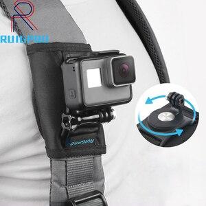 Image 2 - 360 derece rotasyon Quick Release sırt çantası kemer düğmesi dağı toka klip adaptörü Gopro Hero 9/8/7/6/5/4 Xiaoyi eylem kamera