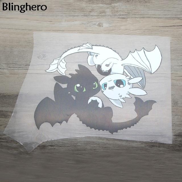 Blinghero filme dragão remendos de transferência de calor fresco vynil transferência de calor diy adesivos de passar roupa jaqueta mochila remendo térmico bh0361