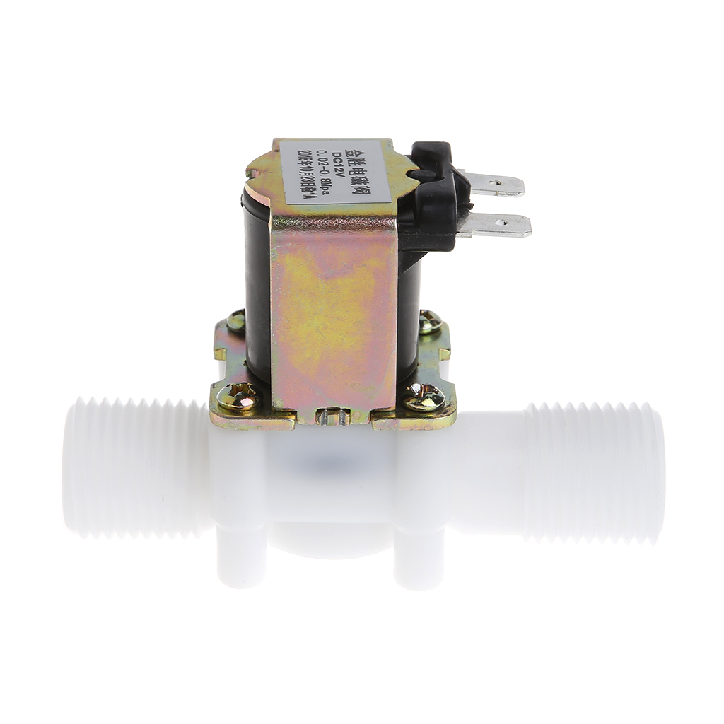 Electric Water Solenoid Valve Magnetic 1//2 DC 12V N//C Water Air Inlet Flow Switch Normally Closed