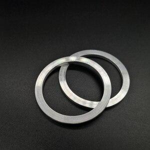 2 pçs 40mm a 50mm fone de ouvido falante unidade adaptador círculo metal diy ajustável círculo redondo para 50mm fone de ouvido habitação