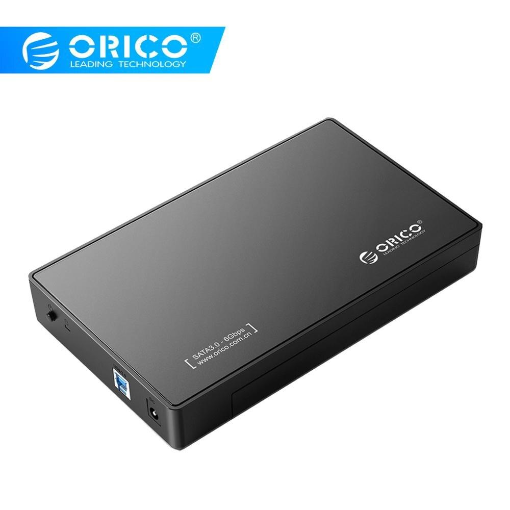 ORICO 3588US3 HDD Enclosure 3.5-inch SATA External Hard Drive Enclosure, USB 3.0  Tool Free  For 3.5