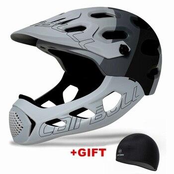 Ultraleve Capacete de Bicicleta de Montanha MTB Down Hill TRILHA BMX Capacete Full Face Coberta Inte-Moldado Capacetes de Ciclismo Capacete MTB 1