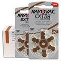 60 шт./1 коробка батарейки для слуховых аппаратов RAYOVAC EXTRA-A312/312/PR41 цинковоздушная мА/ч. аккумулятор 1,45 V Размеры 312 Диаметр 7,9 мм Толщина 3,6 мм