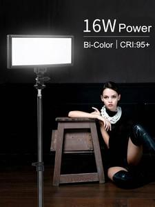 Image 4 - Viltrox L132T Đèn LED Video Siêu Mỏng Màn Hình Hiển Thị LCD Bi Màu Sắc & Mờ DSLR Phòng Thu Ánh Sáng Đèn Với Bảng Điều Khiển máy Quay Phim