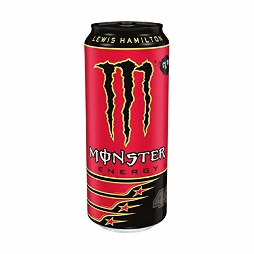 Lewis Hamilton 44 Monster Energy Drink Refreshing Stimulating 500ml Pack Of 12