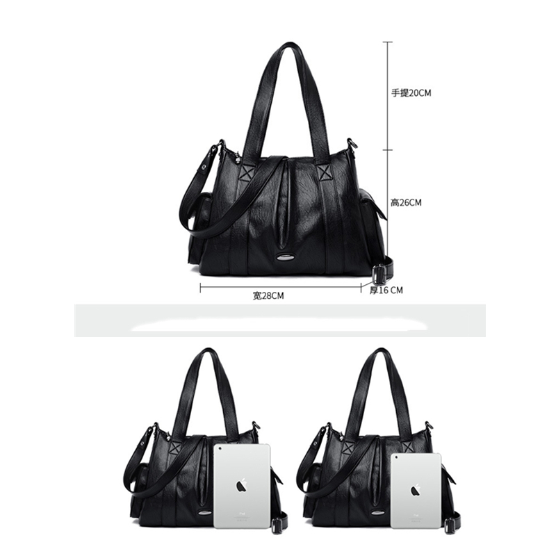 Image 5 - Women Genuine Leather Handbags Tote Soft Crossbody Shoulder Bags  for Women Large Capacity Luxury Handbags Women Bags DesignerShoulder  Bags