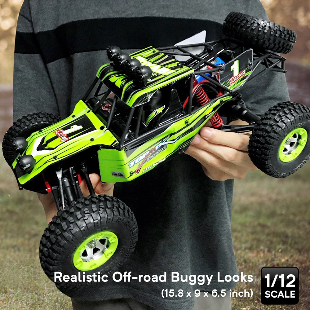 RC Car 4WD 1/12 2.4G 48km/h High Speed Updated Version RTR Rc truck Radio Control Buggy Off Road vehicle Electric Toy Xmas Gifts-in RC Cars from Toys & Hobbies