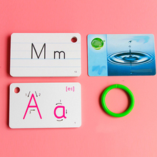English-Flash-Cards Montessori Alphabet 26-Letters Books Games Learning-Toy Educational