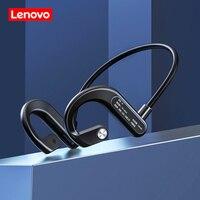 Lenovo-auriculares inalámbricos X3 de conducción ósea, cascos deportivos con Bluetooth, para correr, resistentes al agua, con micrófono, para conducción de ciclismo