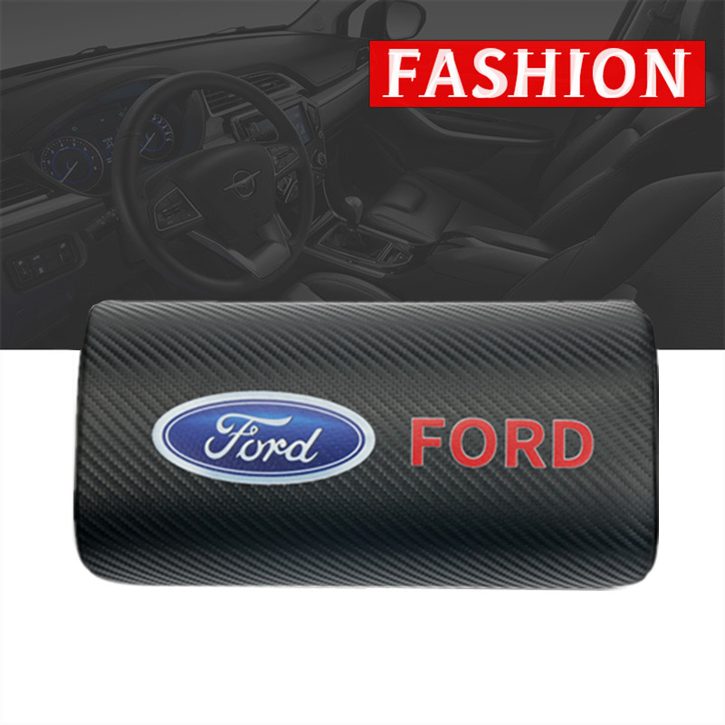 Car Styling for Ford Fiesta EcoSport ESCORT focus 1 focus 3 focus 2 car neck pillows both side pu leather single headrest