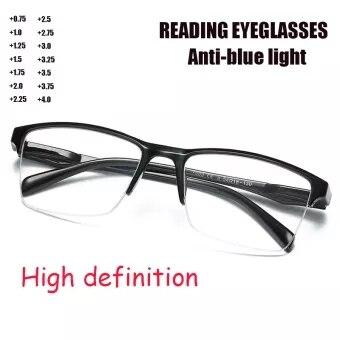 Очки для чтения из титана, для мужчин и женщин, + 75,+ 100,+ 125,+ 150,+ 175, + 350,+ 375,+ 400