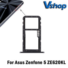 For Asus Zenfone 5 ZE620KL SIM Card Tray + Micro SD Card Tray for Zenfone 5 ZE620KL SIM Card Tray Replacement Parts(China)
