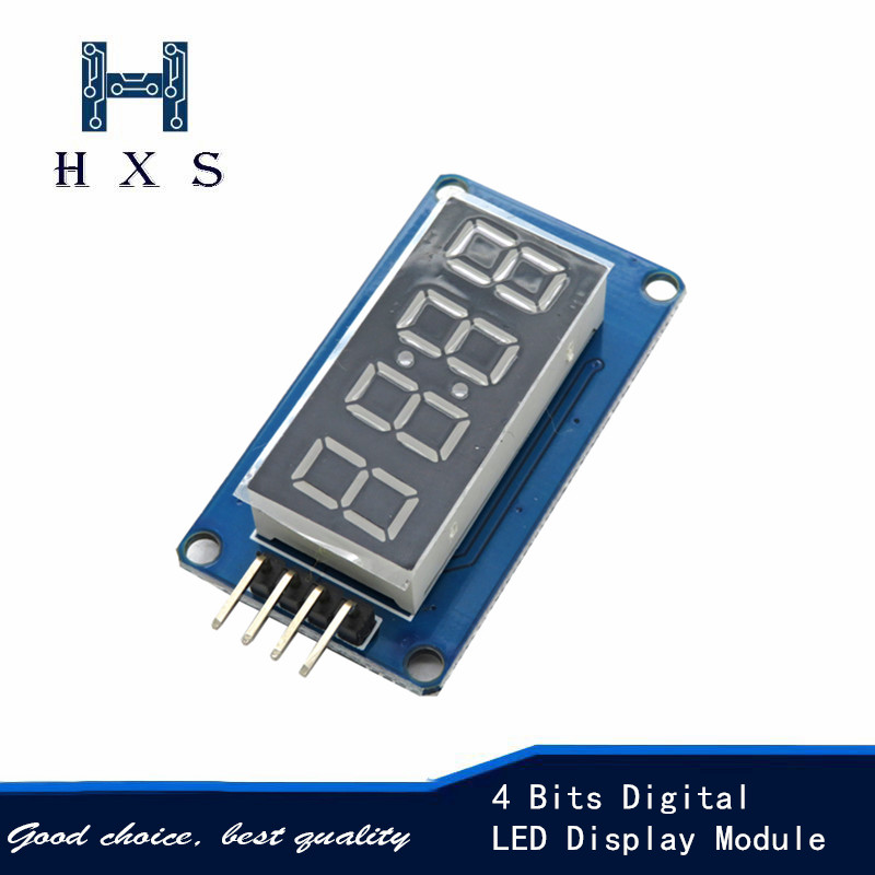 4 Bits Digital LED Display Module TM1637 for arduino <font><b>7</b></font> segments <font><b>0.36</b></font> inch red anode tube clock four series controllers Board Pa image