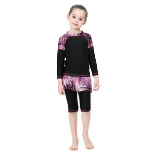 Image 5 - Kinder Mädchen Muslimischen Modest Bademode Islamischen Badeanzug Bademoden Schwimmen Sets Badeanzüge Volle Abdeckung Arabischen Kinder Set Kleidung