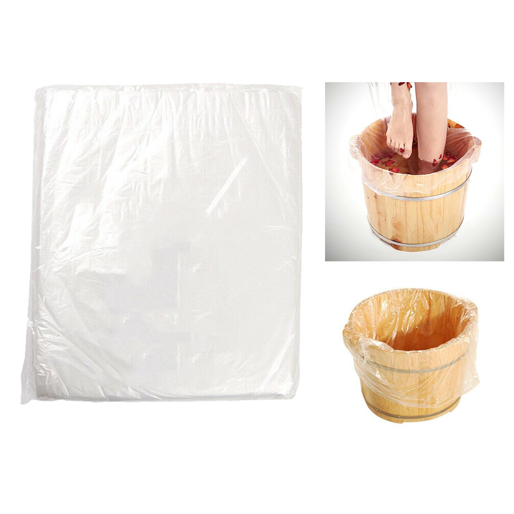 90pcs Environmentally Home Skin Care Massage Center Lightweight Disposable Bath Basin Bag Transparent Accessories Pedicure Spa