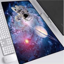 Mairuige большой коврик для мыши на звездном небе астронавт