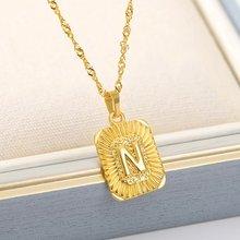 Из нержавеющей стали ожерелье для женщин девочек квадратный