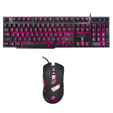 104 Keys Backlight Mechanical Gaming Keyboard Mouse Set USB Wired Gamer Keyboard Mouse Combo Game Keypad Mice Russian/English