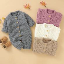 ARLONEET ubrania dla niemowląt chłopcy dziewczęta gruby płaszcz zimowy ciepły dzianiny romper kombinezon guziki odzież wierzchnia bawełna dziecko płaszcz odzież wierzchnia tanie tanio Unisex Moda W wieku 0-6m 7-12m 13-24m 25-36m 3-6y 7-12y 12 + y O-neck COTTON Akrylowe REGULAR Pasuje prawda na wymiar weź swój normalny rozmiar