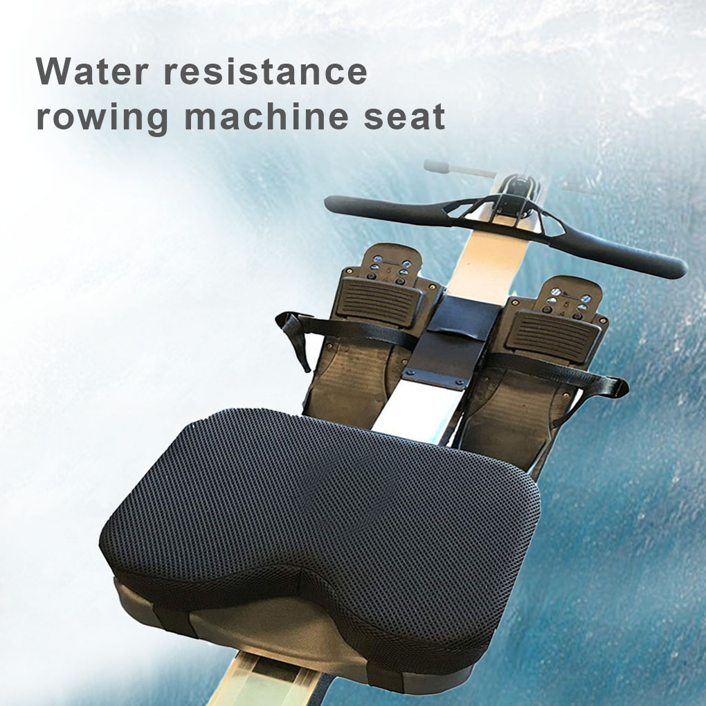 Resistance Rowing Machine Cushion Straps Non-Slip Bottom Memory Foam Washable Sports Protect Cover Seat Cushion