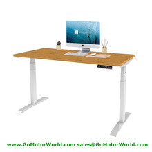 Free shipping to New Zealand Electric Standing Desks mini height 560mm max 1210mm 35mm/s speed 100KG lift