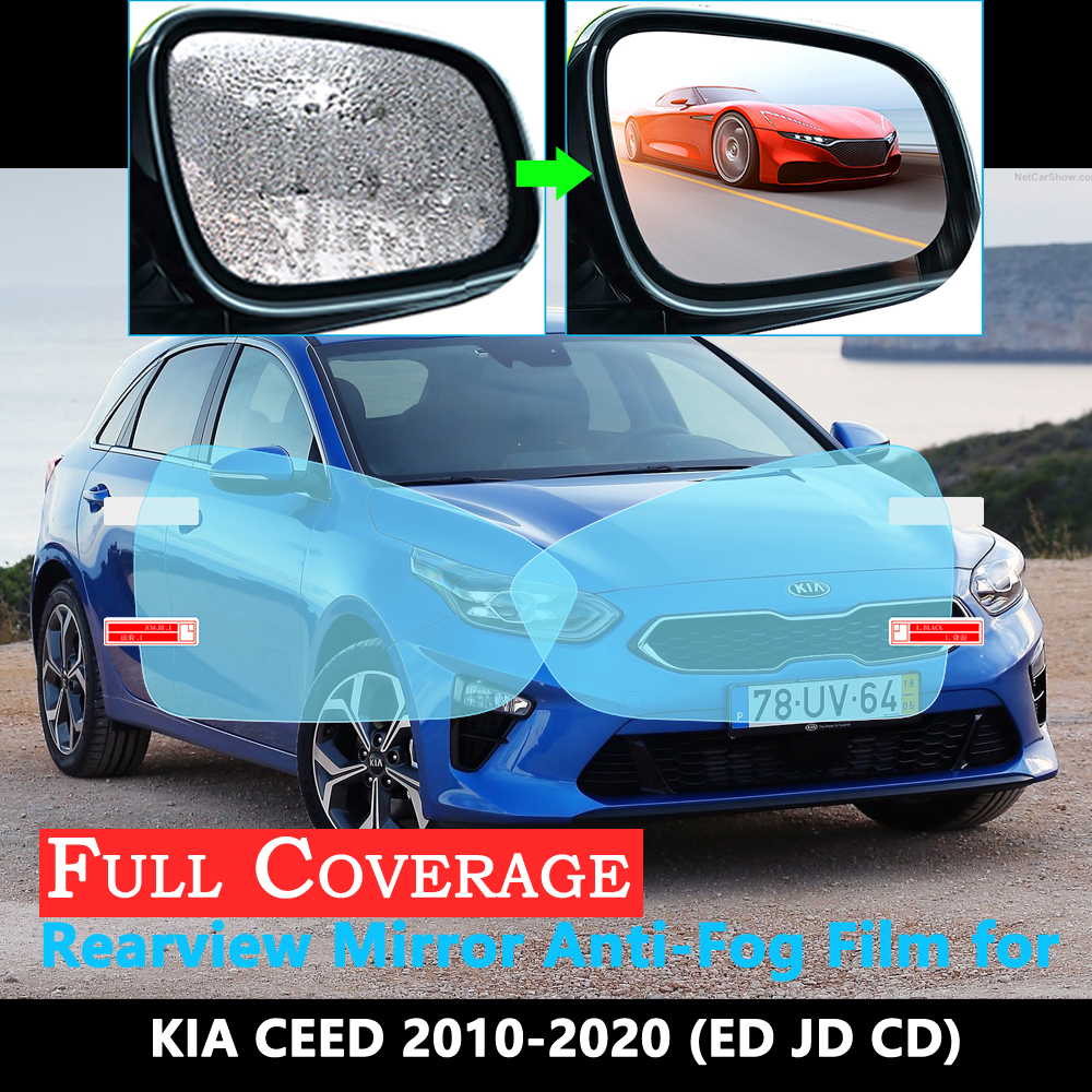 Full Cover Protective Anti Fog Film For KIA CEED ED JD CD Ceed SW GT 2010~2020 Car Rearview Mirror Rainproof Accessories 2019
