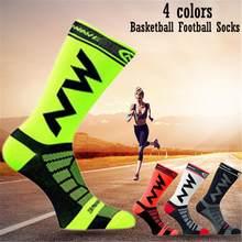 Respirável meias esportivas masculinas de secagem rápida meias de náilon ciclismo meias esportivas acessórios para esportes ao ar livre