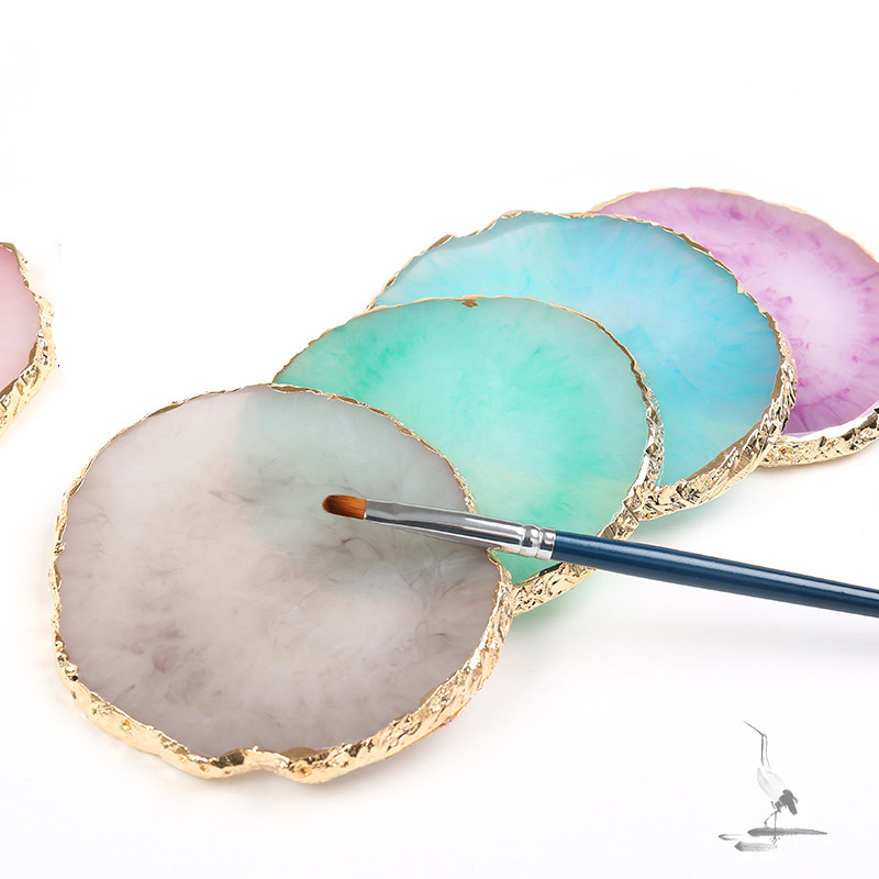 Resin Storage Painted Palette Tray Jewelry Display Plate Necklace Ring Earrings Display Tray Plate Creative Decoration Organizer