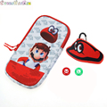 For Odyssey zipper soft storage bag w joystick cap Super Marios pouch for GBA/GBC/PSP/PSV/NDSL/NDSi/New 3DS 2DS /Switch Lite