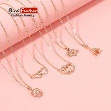 Колье золотого цвета Цепочки и ожерелья для женщин 10 типов милое сердце, звезда, подвеска, цепочка, ожерелье и подвески бархатные Чокеры Модные украшения