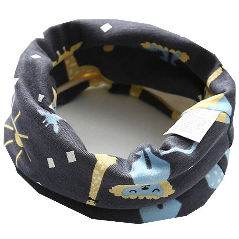 Осенне-зимний детский хлопковый плюшевый шарф, детский шарф для девочек, шарфы для мальчиков и девочек, детский воротник, детский волшебный шейный платок с круглым вырезом - Цвет: plush lion deer