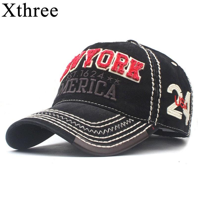 Xthree Men's Baseball Cap Summer Cap Hats For Men Women New York Streetwear Snapback Gorras Hombre Hats Bone Casual Hip Hop Caps