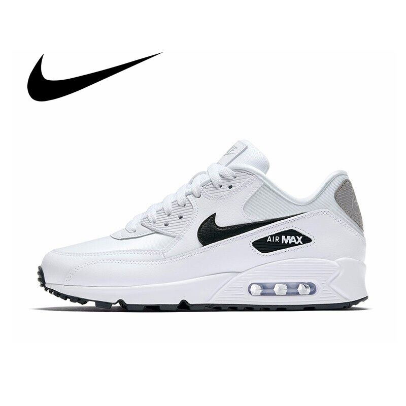 Original NIKE AIR MAX 90 ESSENTIAL Women's Running Shoes White Breathable Comfortable Sport Outdoor Sneakers 325213-137