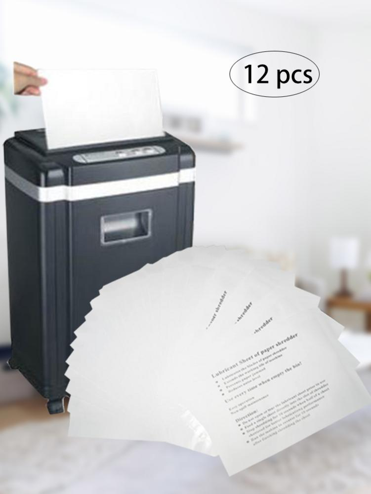 12Pcs Paper Shredder Industrial Paper Shredder Lubricant Fellowes Shredders For Computer Office Use Accessories
