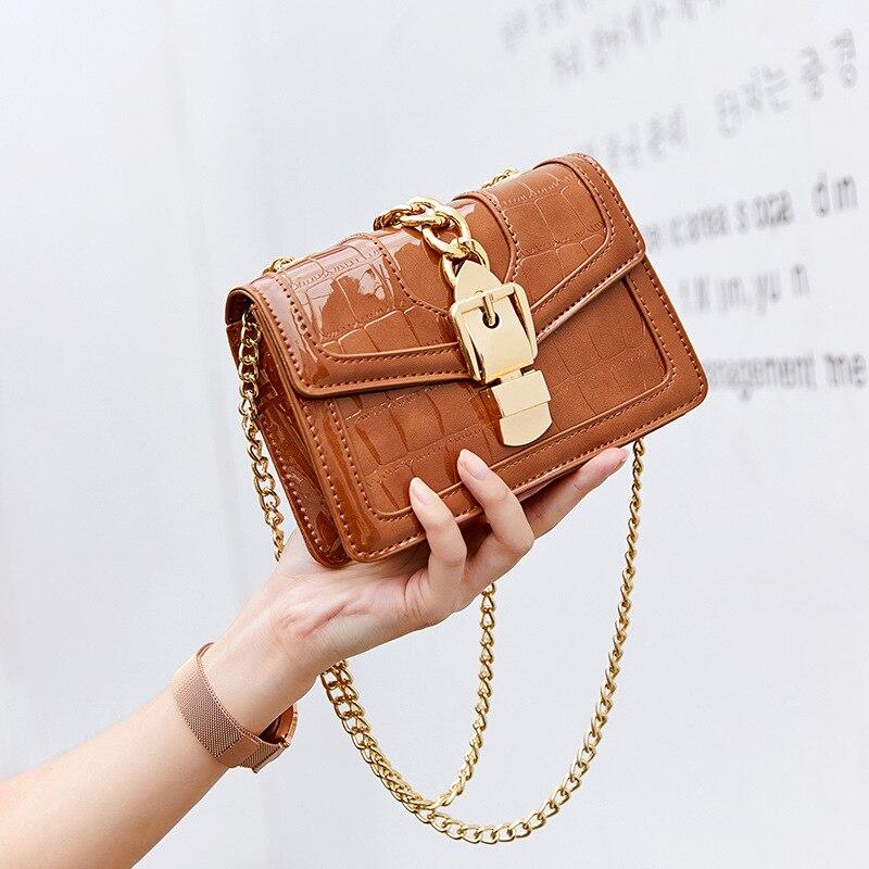 Women's Bag 2019 Europe And America New Fashionable Bright Leather Handbag Handbag Patent Leather Shoulder Messenger Bag