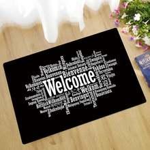 Добро пожаловать коврики противоскользящий напольный коврик