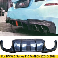 Carbon Fiber F10 M5 Diffuser Rear Lip Bumper Protector for BMW F10 M5 With LED light 2010 2016