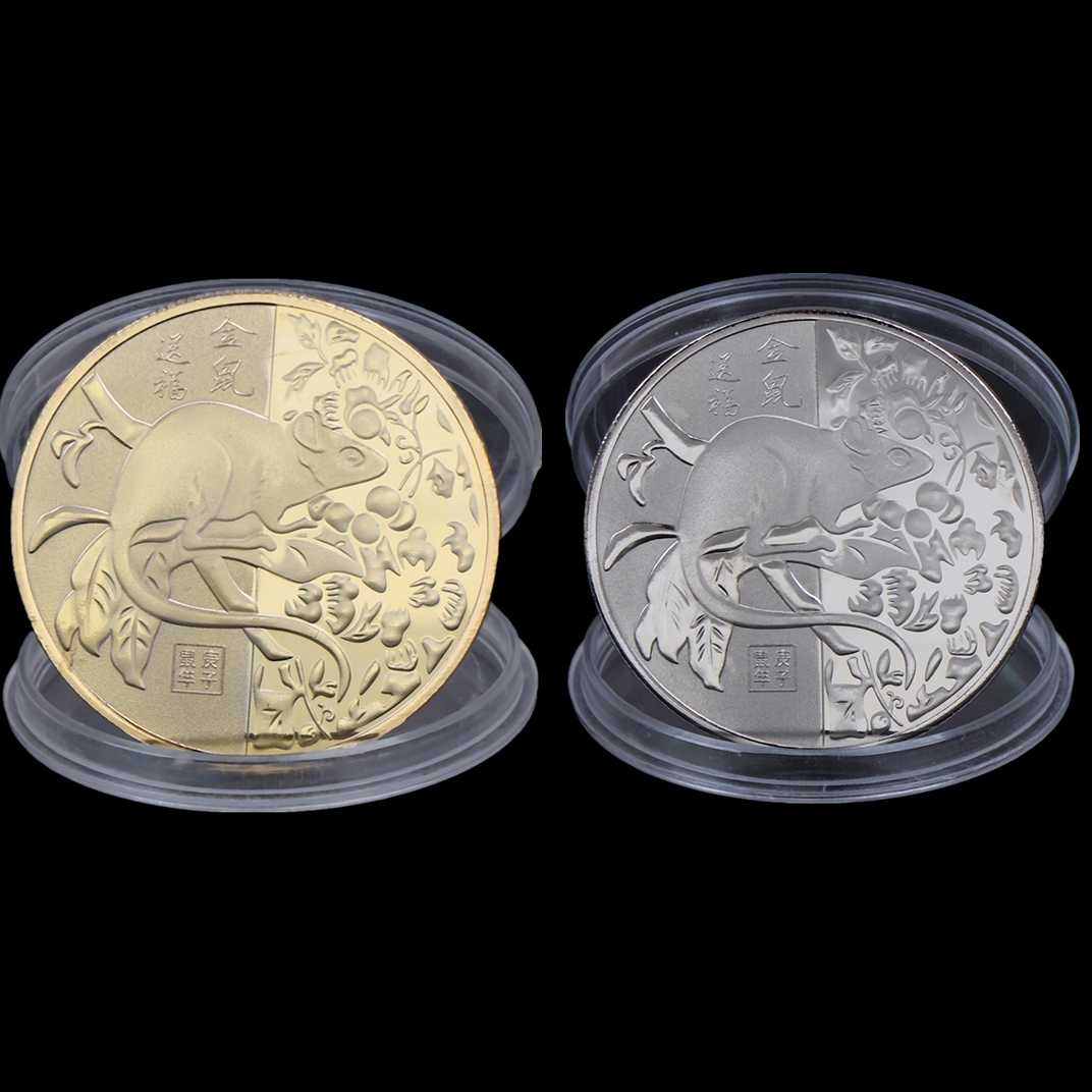 Souvenir Challenge 2020 Rat Year Commemorative Coin Chinese Zodiac Challenge Coins Art Collection