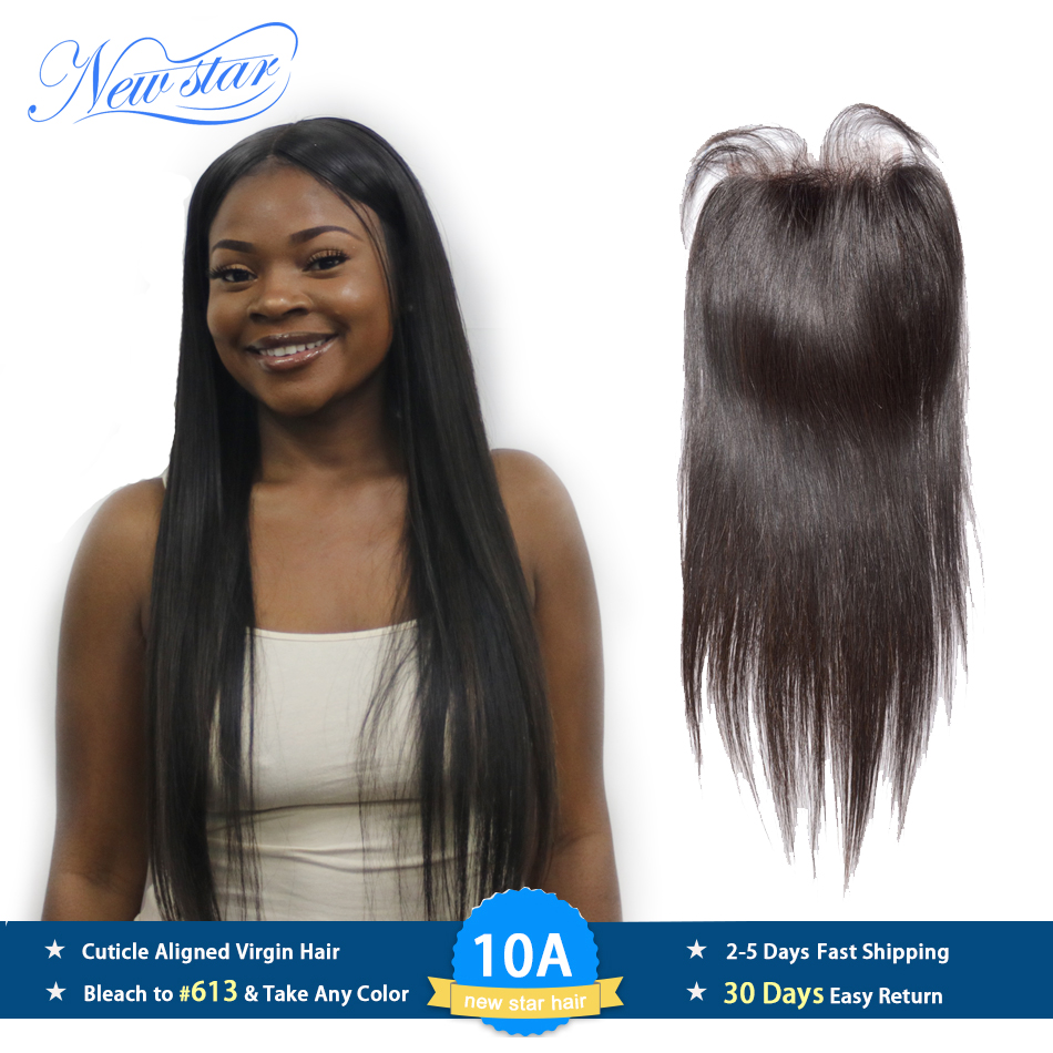 Peruvian Straight 4''X4'' Lace Free Part Closures Guangzhou New Star Virgin Human Hair Medium Brown Swiss Lace With Baby Hair