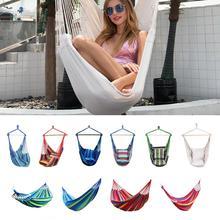 Chaise suspendue Durable hamac corde jardin balançoire chaise siège avec 2 oreillers pour intérieur extérieur accessoires hamac chaise