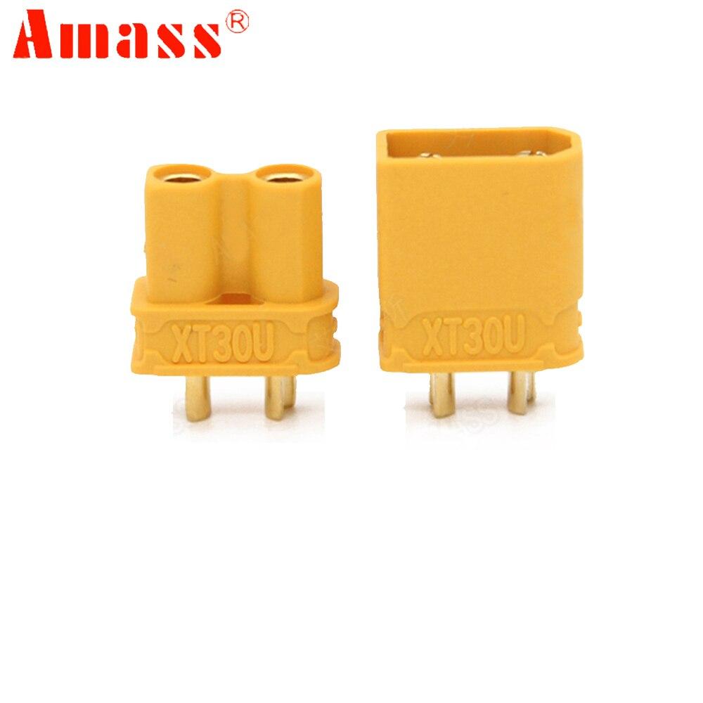 50 paire/lot Amass XT30U mâle femelle connecteur de balle brancher la mise à niveau XT30 pour RC FPV Lipo batterie RC quadrirotor