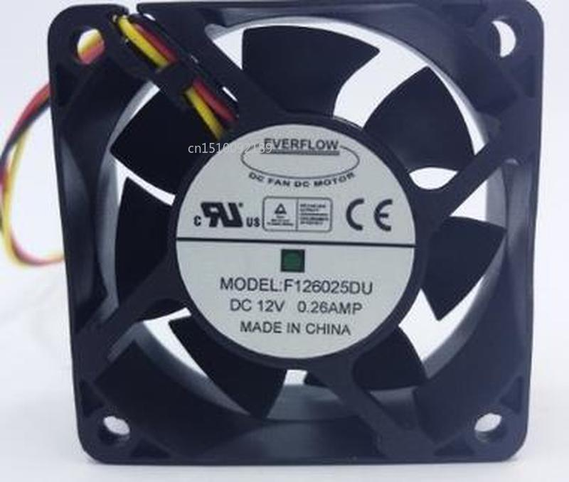 For Original 6025 DC12V 0.26AMP 6CM 60*60*25MM F126025DU 4 Wire Cooling Fan Free Shipping